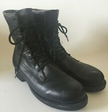 ADDISON SHOE Co. 1983 BLACK leather lace up ankle combat Grunge boots mens 9 D