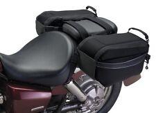 Motorcycle Bike Black Saddlebags Cruiser Travel Road Trip Safe New Free Shipping