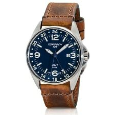 New Torgoen Swiss T25 Men's GMT / Dual Time Quartz 41 mm Pilot Watch T25BL41V
