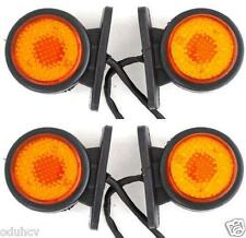 4x 24V LED SIDE REAR AMBRE FEUX DE POSITION CAMION REMORQUE pour DAF SCANIA MAN
