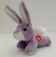 Plush Bunny Rabbit Key Chain Ring with Sound - Handbag Fob-Easter - Spring -Rare