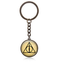 Harry Potter Deathly Hallows Pattern Time Gem Cabocho Key Chain 1 Pce Keycahins
