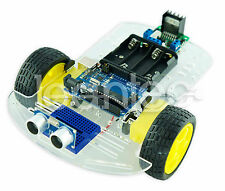 KIT Roboter 2WD Motor Chassis + Arduino UNO + L298N + Distanzsensor HC-SR04