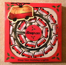 Snap On Tools - Step Van Holiday Christmas Lights Set 20x - Mint in Box / Unused