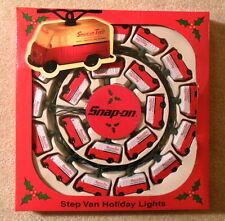Snap On Tools - Step Van Holiday Christmas Lights Set 20x - Mint in Box / Unused