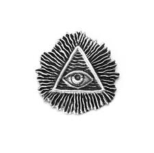 All Seeing Eye (illuminati) Pin Badge in Fine English Pewter, Handmade (h)