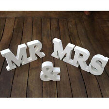 Mr & Mrs Wedding Reception Sign Solid Wooden Letters Table Centrepiece Decor
