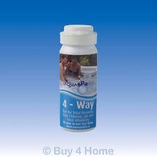 Aquasparkle 4-Way Chlorine Bromine pH TA Test Strips Hot Tub Pool Spa Pack of 50