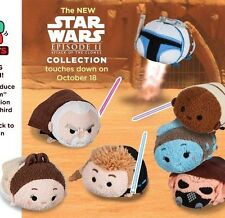 Disney USA Star Wars Episode II 2 Attack Of The Clones Tsum Tsum Set OF 7 NWT