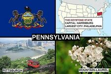SOUVENIR FRIDGE MAGNET of THE STATE OF PENNSYLVANIA USA