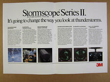 1988 3M Aviation Safety Stormscope II Weather Mapping Systems vintage print Ad