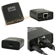 New USB 2.0 Ethernet Wireless Network LPR Print Server Printer Share Adapter HUB