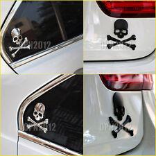 Skull Cross Bones Skeleton Car Auto Body Metal Chrome Emblem Badge Decal Sticker