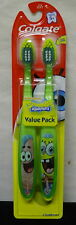 Colgate Kids Twin Pack Toothbrush, Spongebob Ages 5+ (Colors May Vary)