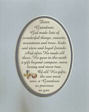 GRANDSON Gift RARE God MADE Loving LOYAL Friends PRECIOUS verses poems plaques