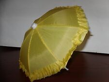 Doll Clothes American Fashion Yellow Umbrella for 18 inch Girl Doll