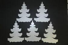 5 Stück Winter- Wald Tannen weiß 45cm  Weihnachts - Baum - Deko Fensterdeko