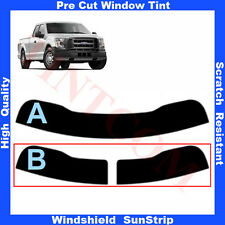 Pre Cut Window Tint Sunstrip for Ford F-150 Super Cab 2 Doors 2015-... Any Shade