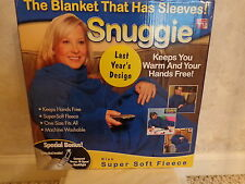 Snuggie, The Blanket That Has Sleeves with book light. (1434)