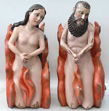 "ANTIQUE PURGATORY HARD WOOD SCULPTURES ""ANIMAS"""