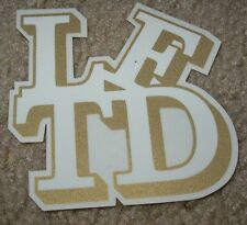 LRG Lifted Research Group Gold Logo STICKER skate skateboard helmet decal