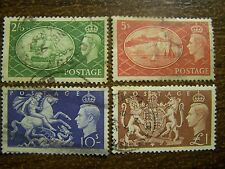 Great Britain Scott 286-289 Used -  High Values, King George VI - FREE SHIPPING