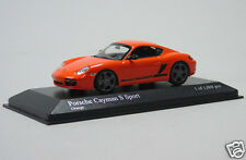 400 065625 Minichamps Porsche Cayman S Sport 987 2008 Orange 1:43 Scale Diecast