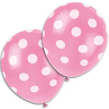 Light Pink Polka Dot Latex Balloons 50 pack made in the USA thick, long lasting