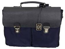 Paul & Shark YACHTING Tasche Bag Aktentasche Tragetasche mit Leder Leather Navy