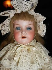 "23"" Perfect German Bisque, Original Pinned Body, Beautiful Perfect Hands"