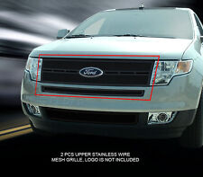 Fedar Stainless Steel Black Mesh Grille Upper Insert For 07-10 Ford Edge