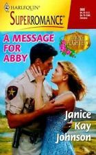 A Message for Abby: Patton's Daughters (Harlequin Superromance No. 866)