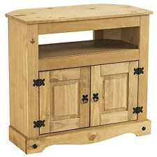 Corona Solid Mexican Pine Corner TV Unit Cabinet