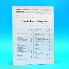 Chemikalien Staatliches Vermittlungskontor Leipzig DDR 1962 | Prospekt Werbung