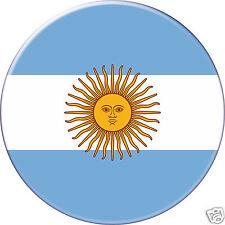 MAGNET frigo Ø56 mm coque style badge  -Argentine-Argentina