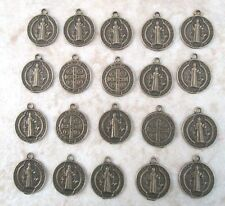 Lot 20 Saint St. Benedict Charms Holy Medals ~ Bronze finish