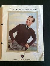 "George Lee & Sons Ltd  1103 Pattern 3 x Men's Pullovers 44""  Early 1950s Target"