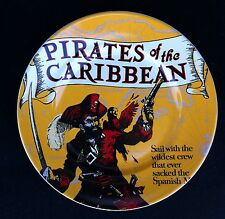 "Disneyland Pirates Of The Caribbean Attraction Poster 7"" Dessert Plate - New"