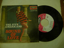 "THE FIVE AMERICANS""SOUND OF LOVE-disco 45 giri VOGUE Italy 1967"" BEAT Usa"