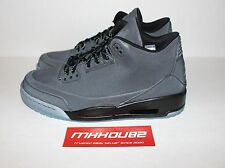 New DS Nike Air Jordan III 3 5Lab3 Black Reflective Cement Shoes retro Size 10.5