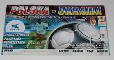 Ticket for collectors World Cup q * Poland - Ukraine 2001 Chorzow
