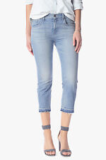 $198 NEW 7 For All Mankind Cropped Relaxed Released Hem Girlfriend Jean Size 32