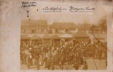 BIEŻUN - POLAND Market Judaica Jewisch foto 1916