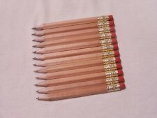 "100 ""Natural Finish"" Golf Pencils with Erasers"