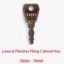 Lowe & Fletcher Replacement Filing Cabinet Key 78000 - 78999
