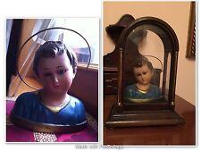 Busto In Gesso Bambin Gesù Con Occhi In Vetro Anni 30/40 Regalo Teca ENTRA