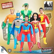 JUSTICE LEAGUE OF AMERICA ; 8 INCH ACTION FIGURES; SET OF 6; POLYBAG; JLA