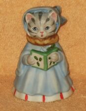 "L@@K  RARE KITTY CUCUMBER  "" SILENT NIGHT "" CAROLER DRESSED IN BLUE MINT NO BOX"