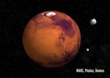 MARS - 3D and Motion Postcard - Astronomy  Greeting Card