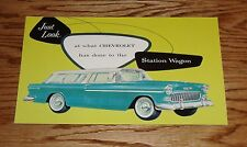 1955 Chevrolet Station Wagon Foldout Sales Brochure 55 Chevy